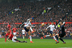 28th October 2017 - Premier League - Manchester United v Tottenham Hotspur - Dele Alli of Spurs misses a chance from close range - Photo: Simon Stacpoole / Offside.