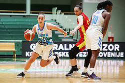 Zala Friskovec of Slovenia during friendly basketball match between Women National Teams of Slovenia and Montenegro, on May 21, 2021 in Arena Tri Lilije, Lasko, Slovenia. Photo by Vid Ponikvar / Sportida