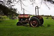 An old tractor in a field in The Black Valley along the Wild Atlantic Way  in County Kerry Ireland.<br /> Photo: Don MacMonagle -macmonagle.com