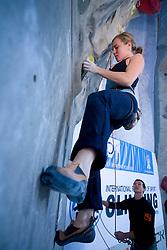 Climber Asja Gosar (SLO) at World cup competition in Zlato polje, Kranj, Slovenia, on November 15, 2008.  (Photo by Vid Ponikvar / Sportida)