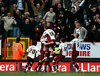 Photo: Tom Dulat/Sportsbeat Images.<br /> <br /> Charlton Athletic v Burnley. Coca Cola Championship. 01/12/2007.<br /> <br /> Celebration after Burnley's Chris McCann scores second goal. Burnley leads 2-0