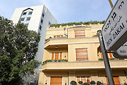 renovated Bauhaus building on the corner of Ehad Haam and Ben Zakai streets, Tel Aviv, Israel