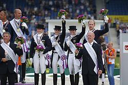 Werth, Isabell (GER);<br /> Bredow-Werndl, Jessica (GER);<br /> Rath, Matthias Alexander (GER);<br /> Sprehe, Kristina (GER);<br /> Röser, Klaus (GER), <br /> Aachen - Europameisterschaften 2015<br /> Grand Prix de Dressage 2. Qualifikation<br /> © www.sportfotos-lafrentz.de/Stefan Lafrentz