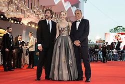 "Javier Bardem, Jennifer Lawrence, Alberto Barbera (chairman of the Mostra) arriving to the premiere of ""Mother"" as part of the 74th Venice International Film Festival (Mostra) in Venice, Italy on September 5, 2017. Photo by Marco Piovanotto/ABACAPRESS.COM"