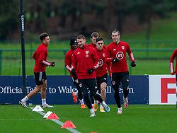 CARDIFF, WALES - Tuesday, November 17, 2020: Wales' captain Gareth Bale (R) during a training session at the Vale Resort ahead of the UEFA Nations League Group Stage League B Group 4 match between Wales and Finland. (Pic by David Rawcliffe/Propaganda)
