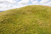 Adam's Grave prehistoric neolithic long barrow, Alton Barnes, Wiltshire, England, UK - horned shaped entrance