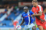 Semni Odelusi, Ian Evatt during the EFL Cup match between Rochdale and Chesterfield at Spotland, Rochdale, England on 9 August 2016. Photo by Daniel Youngs.