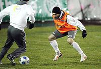Fotball, 9. februar 2009 ,Trening foran privat-kampen mellom Norge og Tyskland<br /> Mounir Hamoud , Norge
