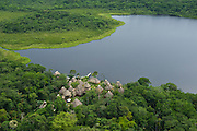 Añangu Lake & Napo Wildlife Centre Lodge<br /> Yasuni National Park, Amazon Rainforest<br /> ECUADOR. South America