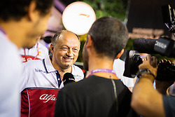 September 20, 2019, Singapore, Singapore: Motorsports: FIA Formula One World Championship 2019, Grand Prix of Singapore, .Frederic Vasseur (FRA, Alfa Romeo Racing) (Credit Image: © Hoch Zwei via ZUMA Wire)