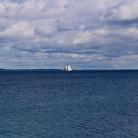 """""""Wind in the Sails""""<br /> <br /> A strong wind and a wonderful day for sailing!<br /> <br /> The Great Lakes by Rachel Cohen"""