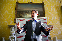 © Licensed to London News Pictures. 10/10/2014. LONDON, UK. Deputy Prime Minister Nick Clegg hosts a reception for World Mental Health day on Friday, 10 October 2014 at Admiralty House in central London. Photo credit : Tolga Akmen/LNP