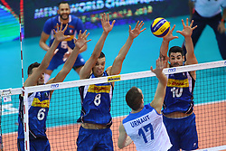 ITALY'S BLOCK<br /> ITALY VS SLOVENIA<br /> MEN'S VOLLEYBALL WORLD CHAMPIONSHIPS <br /> Florence September 18, 2018