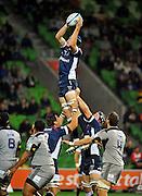 Hugh Pyle (Rebels)<br /> Melbourne Rebels v The Hurricanes<br /> Rugby Union - 2011 Super Rugby<br /> AAMI Park, Melbourne VIC Australia<br /> Friday, 25 March 2011<br /> © Sport the library / Jeff Crow