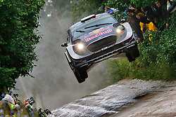 June 30, 2017 - Mikolajki, Pologne - French rally driver Sebastien Ogier gets his car in the air during the Rally Poland 2017. (Credit Image: © Panoramic via ZUMA Press)