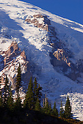 Nisqually Glacier detail on Mount Rainier from Glacier Vista, Mount Rainier National Park, Washington
