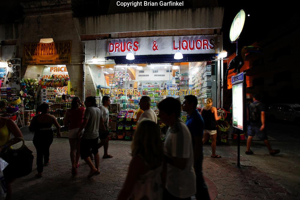 Drug and Liquor Store on 5th Avenue in Playa de Carmen, Mexico