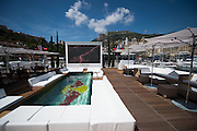 May 25-29, 2016: Monaco Grand Prix. Red Bull party deck and pool in Monaco