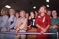 Women watching Reagan in Florida..Photograph by Dennis Brack BB31