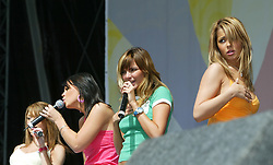 .Girls Aloud perform on stage at the Live and Loud concert at Hampden Stadium, 2004..Pic ©2010 Michael Schofield. All Rights Reserved.