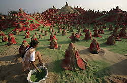 Santa Claus sand sculptures were created for Christmas celebrations on the beach of Puri, 65km away from Bhubaneswar, India, December 23, 2012. Photo by Imago / i-Images...UK ONLY