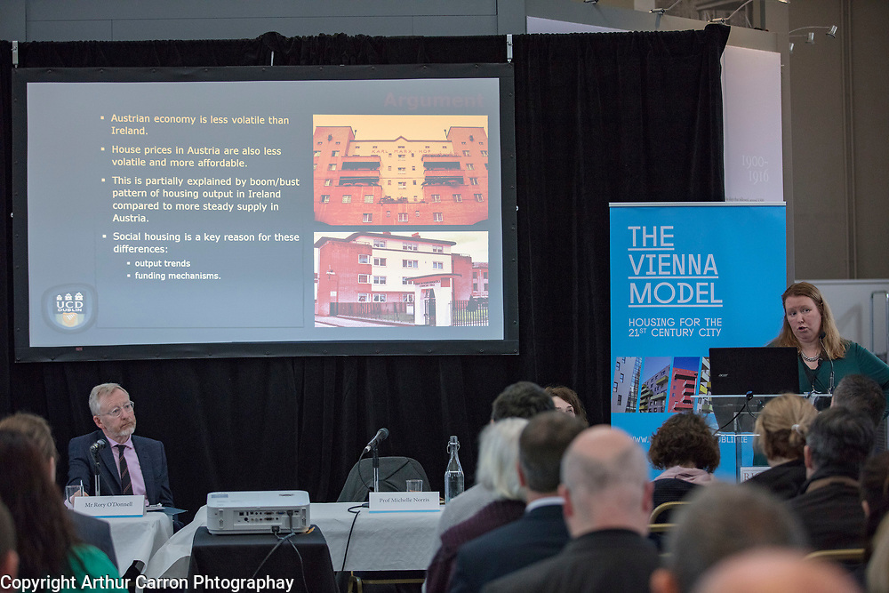 NO FEE PICTURES <br /> 16/4/19 A discussion on Cost Rental models of housing took place this morning during a seminar entitled 'Delivering New Affordable Rental for Dublin', at Richmond Barracks in Inchicore, as part of the Vienna Model of Housing exhibition, taking place in Dublin until 25th April. Picture:Arthur Carron