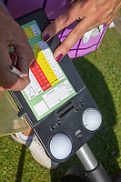 AMSTERDAM - scorekaart, invullen , Golf, regels,    COPYRIGHT KOEN SUYK