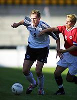 Fussball, Nationalspiele U21, Norwegen - Deutchland 3-0. 140801. Lillestøm. Tim Borowski, Werder Bremen und  Rune Bolseth.