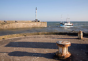 Small fishing boat entering the harbour, Bridlington, Yorkshire, England