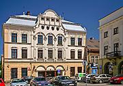 Budynek poczty, rynek w Cieszynie, Polska<br /> Mail building, market place in Cieszyn, Poland