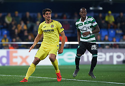 February 21, 2019 - Villarreal, Castellon, Spain - Gerard Moreno of Villarreal CF and Cristian Borja of Sporting Lisboa during the UEFA Europa League Round of 32 Second Leg match between Villarreal and Sporting Lisboa at Estadio de La Ceramica on February 21, 2019 in Vila-real, Spain. (Credit Image: © AFP7 via ZUMA Wire)