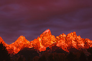 First Light on Teton Range, Grand Teton National Park, Wyoming