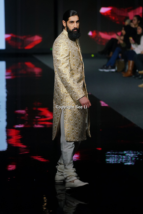 Shenena Sethi showcases latest collection at the National Asian Wedding Show on 11th Novmber 2017, Olympia London.
