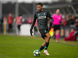 GRÖDIG, AUSTRIA - Tuesday, December 10, 2019: Liverpool's Elijah Dixon-Bonner during the final UEFA Youth League Group E match between FC Salzburg and Liverpool FC at the Untersberg-Arena. (Pic by David Rawcliffe/Propaganda)
