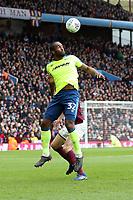 Aston Villa v Derby County - Sky Bet Championship<br /> BIRMINGHAM, ENGLAND - APRIL 28 :  Camerone Jerome, of Derby County, wins a header at Villa Park