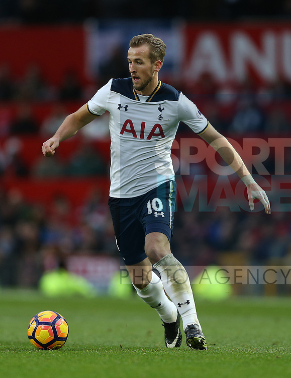 Harry Kane of Tottenham during the English Premier League match at Old Trafford Stadium, Manchester. Picture date: December 11th, 2016. Pic Simon Bellis/Sportimage