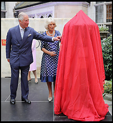 Image ©Licensed to i-Images Picture Agency. 06/09/2016. London, United Kingdom. Royal Mail  500th Anniversary. <br /> <br /> Prince Charles, Prince of Wales and Camilla, Duchess of Cornwall unveil a penfold postbox as they attend a reception to mark the 500th Anniversary of the Royal Mail at Merchant Taylor's Hall at  on September 6, 2016 in London, England<br /> <br /> Picture by  i-Images / Pool