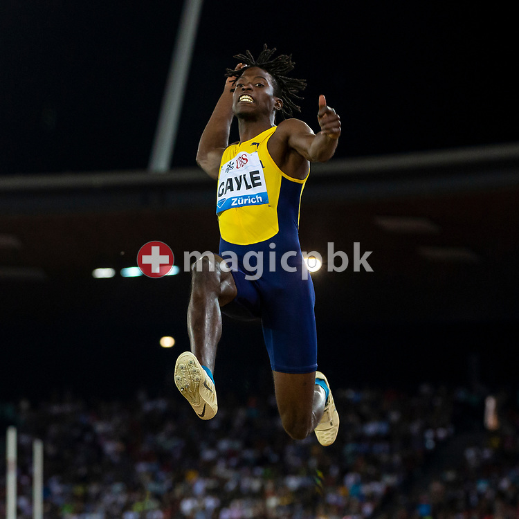Tajay GAYLE of Jamaica competes in the Men's Long Jump during the Iaaf Diamond League meeting (Weltklasse Zuerich) at the Letzigrund Stadium in Zurich, Switzerland, Thursday, Aug. 29, 2019. (Photo by Patrick B. Kraemer / MAGICPBK)