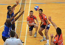 Team Salonit vs ACH at finals of Slovenian volleyball cup between OK ACH Volley and OK Salonit Anhovo Kanal, on December 27, 2008, in Nova Gorica, Slovenia. ACH Volley won 3:2.(Photo by Vid Ponikvar / SportIda).