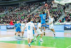 Mladen Dabanovic vs Ermin Siljak during basketball match between Slovenian football and basketball Legends at All-Stars Stozice 2014, on December 28, 2014 in Arena Stozice, Ljubljana, Slovenia. Photo by Vid Ponikvar / Sportida