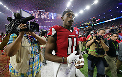 Atlanta Falcons wide receiver Julio Jones leaves the field at the end of the game as the Atlanta Falcons meet the New England Patriots in Super Bowl LI on Sunday, February 5, 2017 at NRG Stadium in Houston, TX, USA. The Patriots beat the Falcons in overtime 34-28. Photo by Curtis Compton/Atlanta Journal-Constitution/TNS/ABACAPRESS.COM