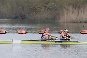 Caversham. Berkshire. UK<br /> Women's Pair Bow. Caragh MCMURTY and Rebecca CHIN. <br /> 2016 GBRowing U23 Trials at the GBRowing Training base near Reading, Berkshire.<br /> <br /> Monday  11/04/2016 <br /> <br /> [Mandatory Credit; Peter SPURRIER/Intersport-images]