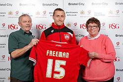 Luke Freeman of Bristol City poses during the Player Sponsors' Evening in the Sports Bar & Grill at Ashton Gate - Mandatory byline: Rogan Thomson/JMP - 11/04/2016 - FOOTBALL - Ashton Gate Stadium - Bristol, England - Bristol City Player Sponsors' Evening.