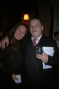 Norman Rosenthall and Diana Widmaier Picasso. Book launch for ' Picasso: Art Can Only Be Erotic' by diana Widmaier Picasso. American Bar at the Connaught. Carlos Place. London W1.  October 11 2005. ONE TIME USE ONLY - DO NOT ARCHIVE © Copyright Photograph by Dafydd Jones 66 Stockwell Park Rd. London SW9 0DA Tel 020 7733 0108 www.dafjones.com