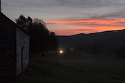 Day breaks at Green Acres farm in South Randolph, Vt. the day before the Wortmans' Milking Shorthorn cows will be auctioned off in a herd dispersal ending over 80 years of dairy farming and breeding with the herd by Joan Wortman's family, Friday, May 13, 2016. (Valley News - James M. Patterson) Copyright Valley News. May not be reprinted or used online without permission. Send requests to permission@vnews.com.