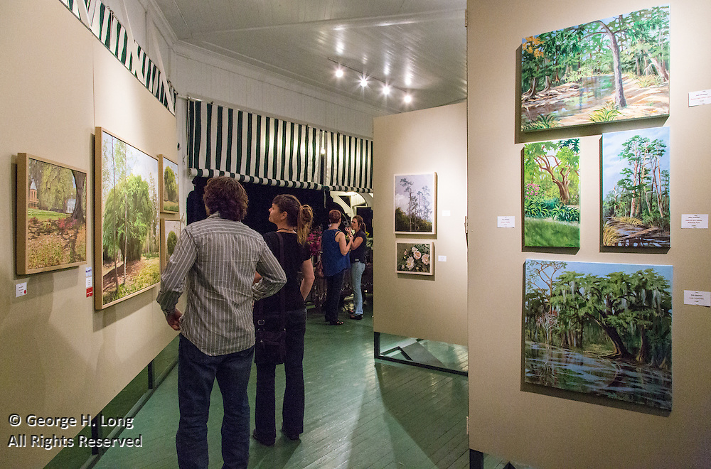 Opening reception for 2014 En Plein Air exhibit in the Pavillion at Abita Springs Park put on by the Abita Springs Trailhead Museum
