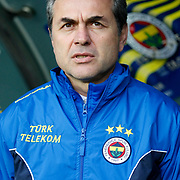 Fenerbahce's coach Aykut Kocaman during their Turkish superleague soccer match Fenerbahce between Eskisehirspor at Sukru Saracaoglu stadium in Istanbul Turkey on Sunday 14 April 2013. Photo by Aykut AKICI/TURKPIX