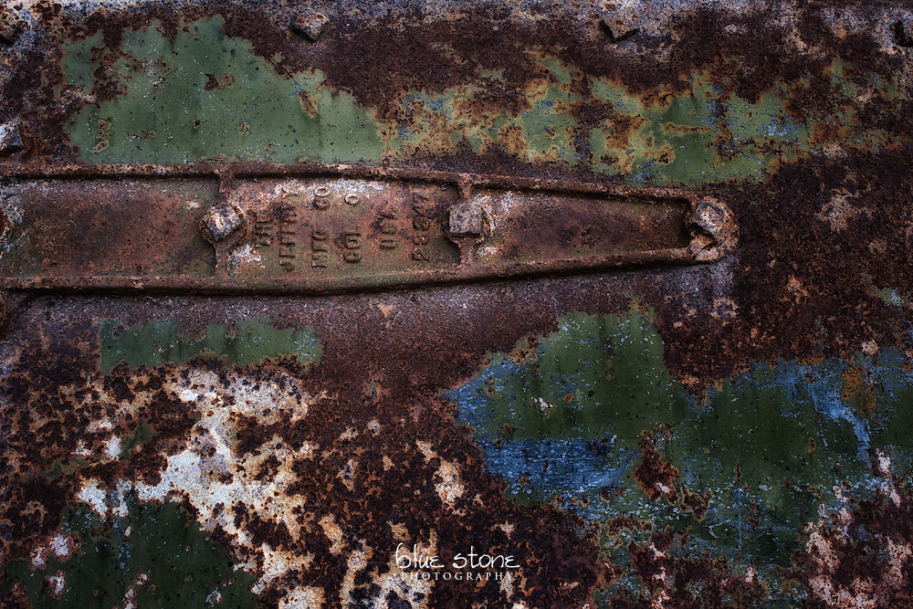 An aged and rusted iron door and a hinge with faded blue, green and white paint.<br /> <br /> Wall art is available in metal, canvas, float wrap and standout. Art prints are available in lustre, glossy, matte and metallic finishes.