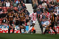 Photo: Pete Lorence.<br />Stoke City v Hull City. Coca Cola Championship. 21/04/2007.<br />Mamady Sidibe passes the ball.