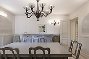 Architecture; beautiful dining room in classic style